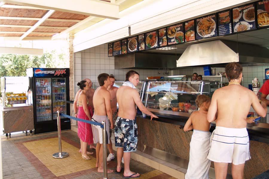Аквапарк Ватерсити на Крите, кафе