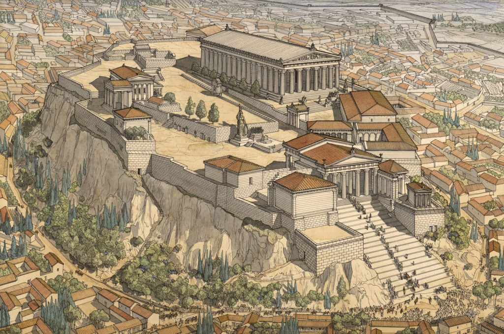 Реконструкция Афинского Акрополя
