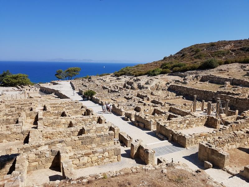 Руины древнего Камирос, остров Родос