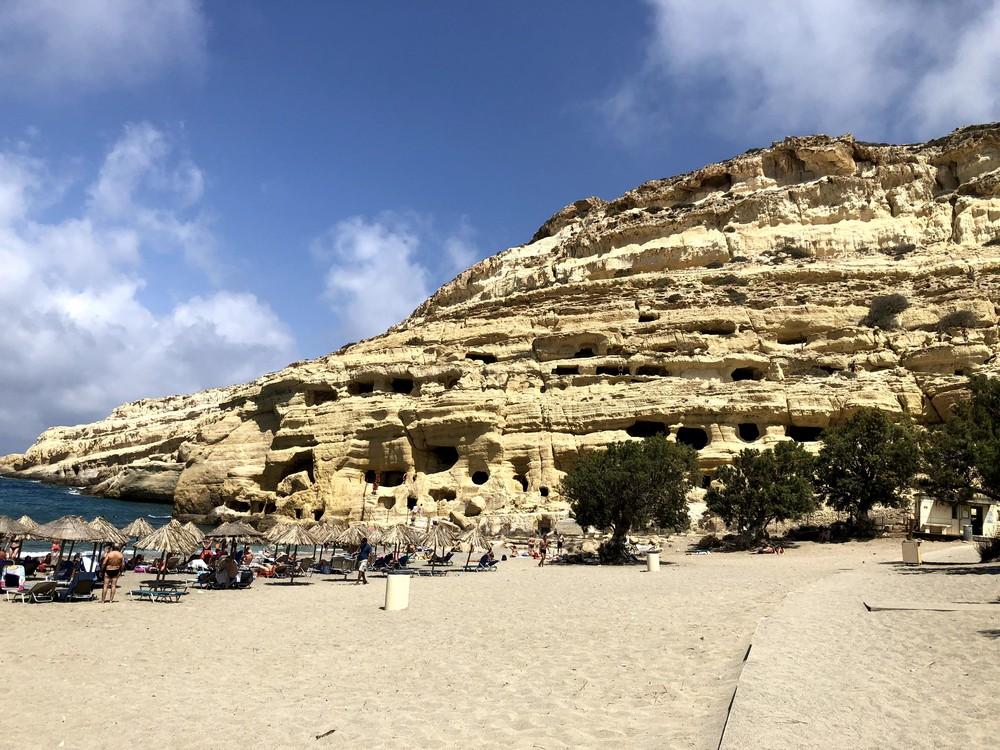Пляж Матала, Крит