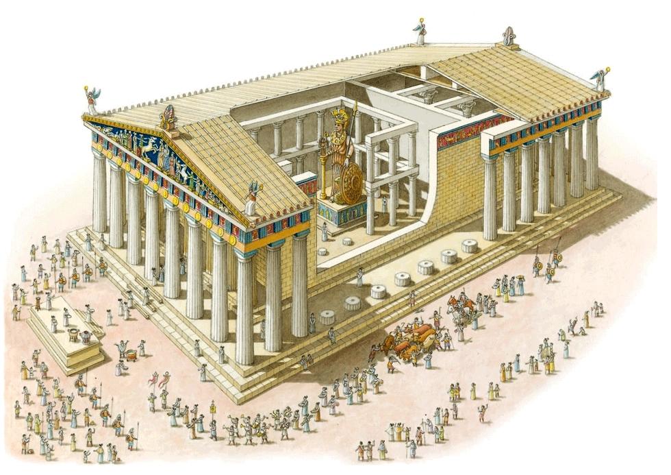 Реконструкция храма Богини Афины в Акрополе